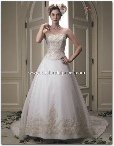 Embroidered wedding gown dress