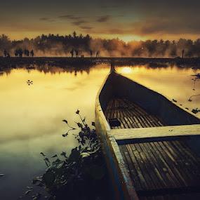 Boat and Landscaper by Rahaditha Bachtiar Hunowu - Digital Art Things