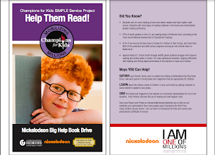 Photo: I visited the Champions For Kids site to learn more about the Big Help Book Drive and was startled to see some of the facts - like that 67% of 4th graders in the US are reading below a proficient level!