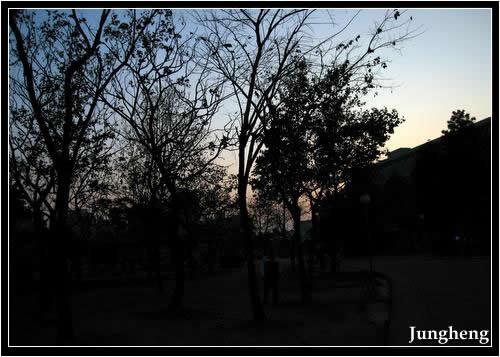 公園的黃昏