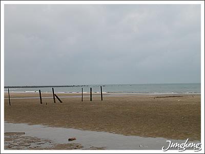 陰天的沙崙海邊