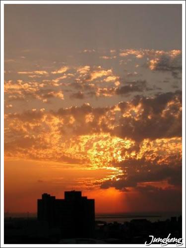 淡水的夕陽與雲彩