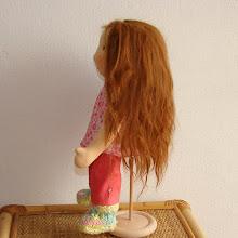 Photo: doll hair from alpaca suri
