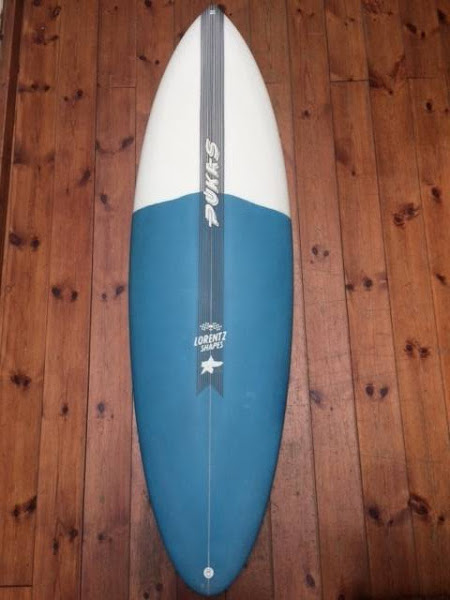 "Pukas Surfboard - ORIGINAL SIXTYNINER in EPOXY by Axel Lorentz 6'02"" x 21 1/4 x 2 3/4 - 39,36L"