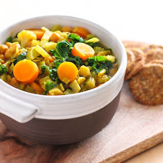 Golden Chickpea and Vegetable Soup.