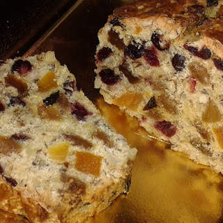 Delicious Plum Cake With Dried Fruit And Nuts.