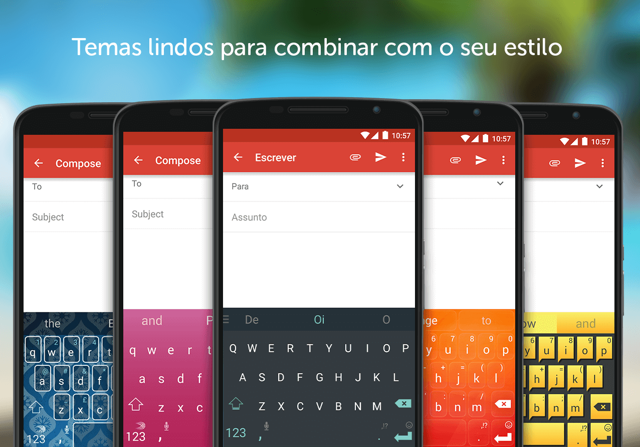 Teclado SwiftKey: captura de tela