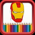 SuperHero Coloring Book icon