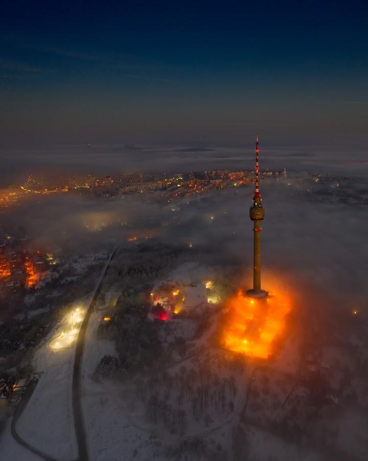 Мissile launch -2 by Валентин Найденов - City,  Street & Park  Night ( tvtower, night, drone, tower )