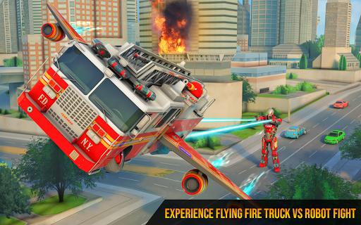 Flying Firefighter Truck Transform Robot Games 19 screenshots 6