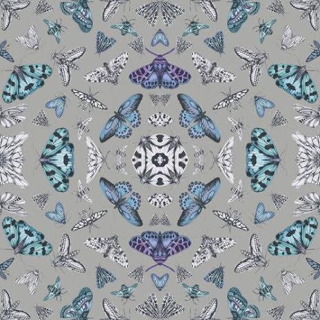 Fantasia Glitter Bug Silver tapet från Arthouse