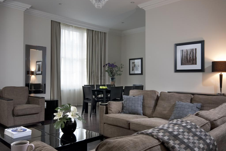 Living room at Paddington apartment