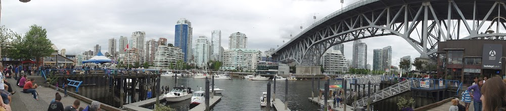 Photo: View of southern Vancouver downtown coast from Granville Island.