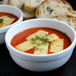 Dill Tomato Soup with White Cheddar