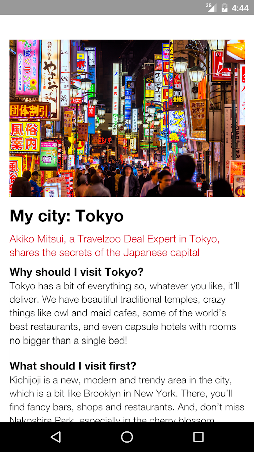 Travelzoo Experience- screenshot