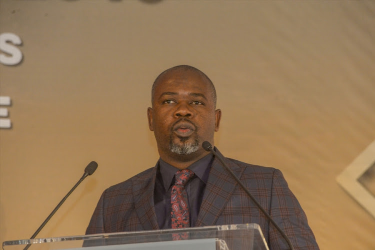Acting Cricket South Africa chief executive Thabang MOroe speaks during the CSA Awards breakfast at Inanda Polo Club on June 02, 2018 in Johannesburg, South Africa. Moroe and his governing Board of Directors are faced with a tough task of finalizing the T20 Global League (T20GL) standoff with franchise owners.