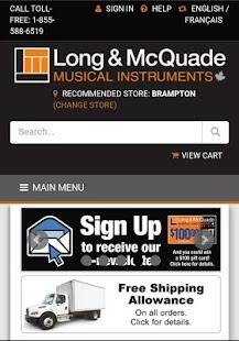 Long & McQuade Shop Online- screenshot thumbnail
