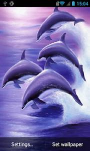Dolphins live wallpaper screenshot 0
