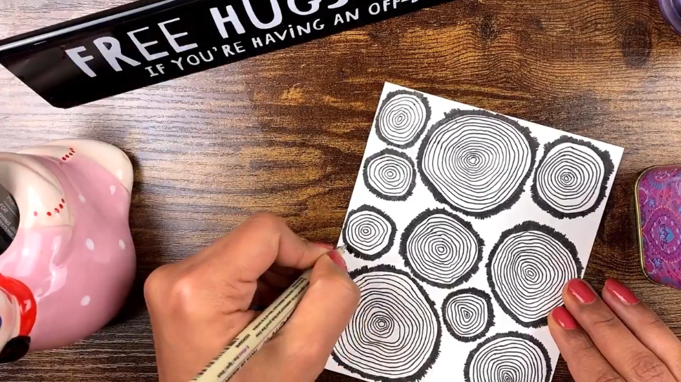 tree rings drawing