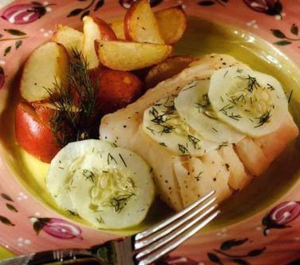 Cucumber Topped Cod Recipe