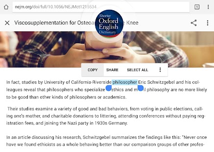 Oxford Shorter English Dictionary Screenshot