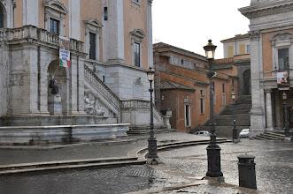Photo: Autorem fontány a schodiště paláce Senatorio je Michelangelo.
