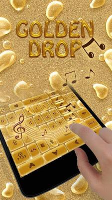Golden Drops GO Keyboard Theme - screenshot