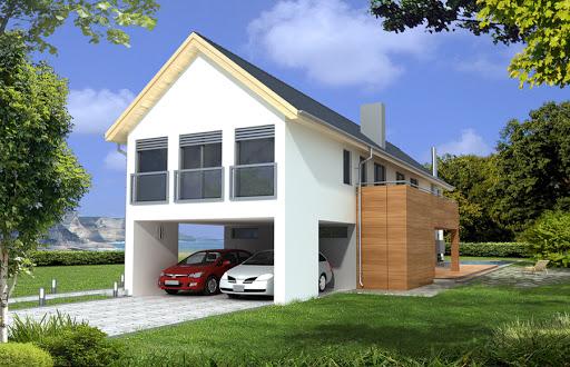 projekt Dakota wersja C z garażem, wjazd z boku