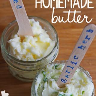 Homemade Butter (Salted & Garlic-Herb)