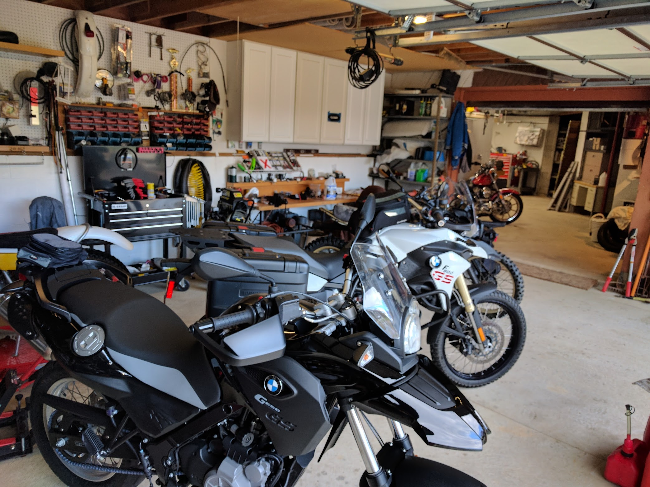 Show Us Your Extended Two Car Garage Shop Adventure Rider