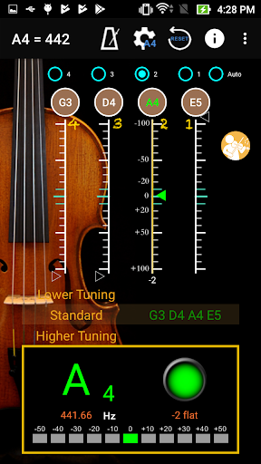 ViolinTuner - Tuner for Violin 3.3 screenshots 1