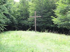 Photo: 19.Na szczycie, poza słupkiem z nazwą szczytu, jest też krzyż i niewielka łączka. Widoków niestety brak. Nie ma też niemal w ogóle turystów.