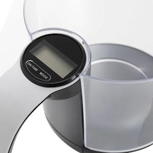 Cana cu ecran LCD si cantar digital, 3 kg