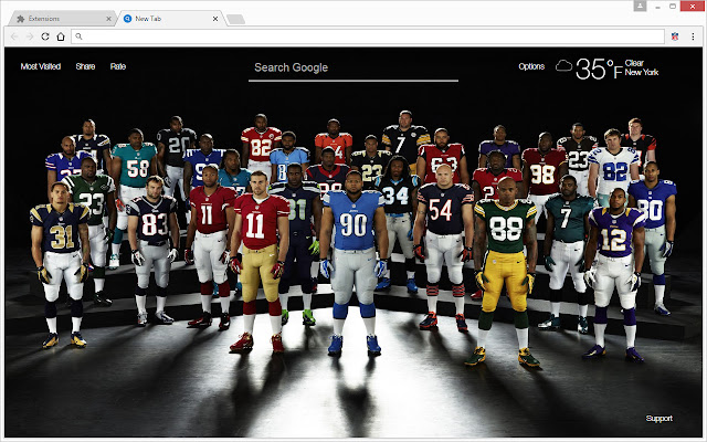 NFL Football Champions - Super Bowl HD Themes - Chrome'i veebipood