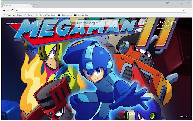 Mega Man HD Wallpaper Megaman New Tab