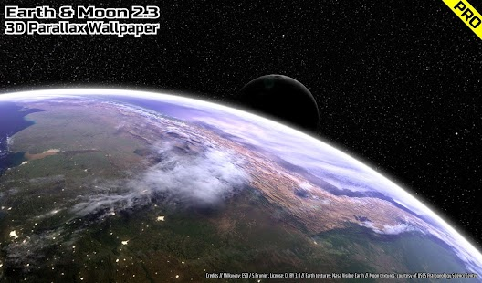 Earth & Moon in HD Gyro 3D PRO Parallax Wallpaper Screenshot