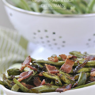 Caramelized Onion and Bacon Green Beans