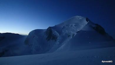 Photo: Dan sviće, ovdje već vidimo bivak Vallot