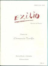 Photo: Exilio. Revista de Poesía. No. 4, Abril 1996. Ediciones Exilio Santa Marta. Poesías de Clememcia Tariffa. Edición virtual de la revista completa  (24 páginas).  Formato Gogle, pdf: https://docs.google.com/viewer?a=v&pid=explorer&chrome=true&srcid=0B-ABjQmYGMXbNDI4NzQ2YWEtYjhjMC00YmEzLWI3NTAtYTJkN2FiNGExNzJi&hl=en Formato ISSUU, pdf:  Formato Scribd, pdf: