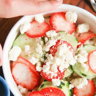 Cucumber Strawberry Salad.