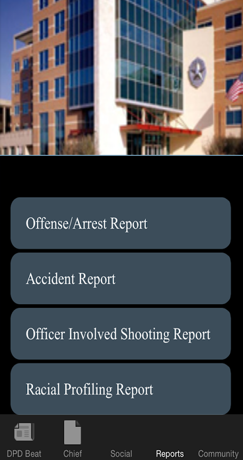 DallasPD App- screenshot
