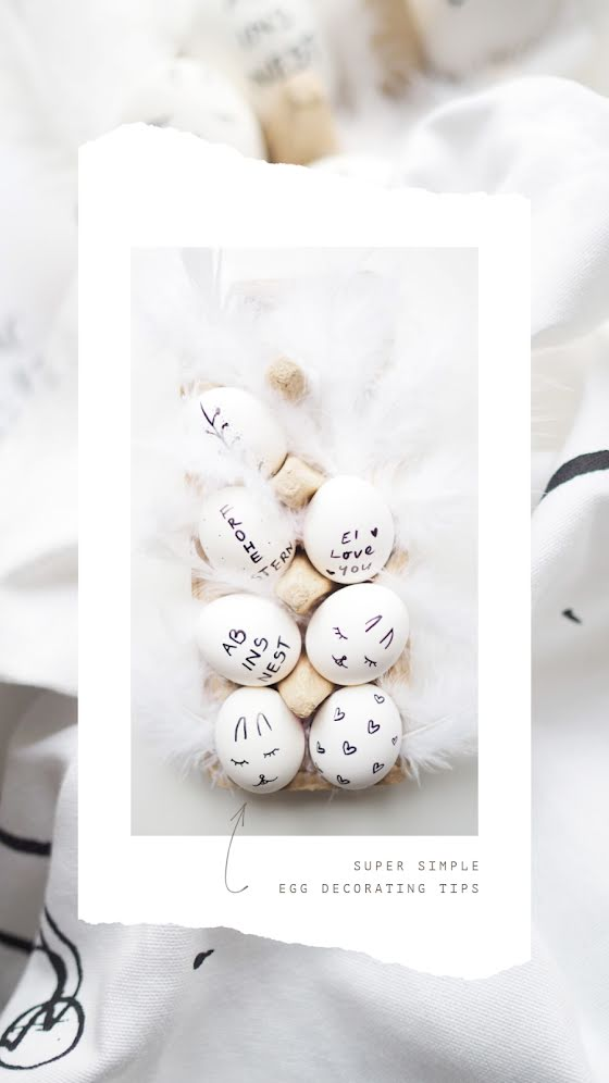 Egg Decorating Tips - Easter Template