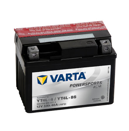 VARTA MC-BATTERI 3AH YT4L-4 YTL-BS