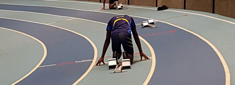 Joseph til start på 200 m