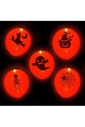 LED-ballong, halloween 5st