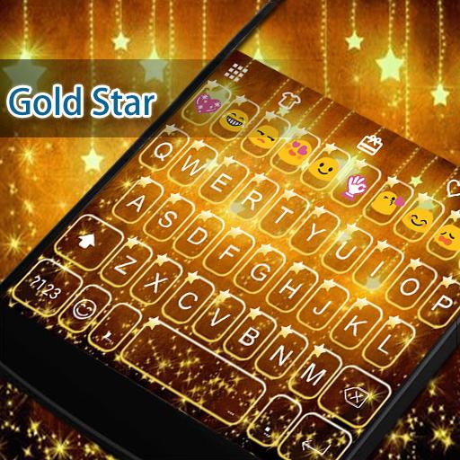 Gold Keyboard -Funny Gif 遊戲 App LOGO-硬是要APP