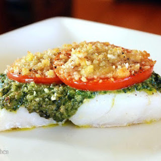 Roasted Cod with Pesto and Breadcrumbs Recipe