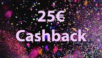 Angebot für Gewinne 4 x 25€ Cashback im Supermarkt