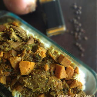 Authentic Jamaican Curry Chicken.