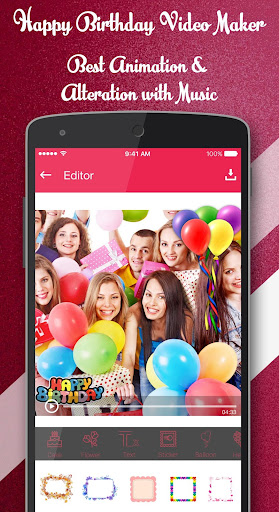 Happy Birthday Video Maker With Music By Creative Fx Google Play